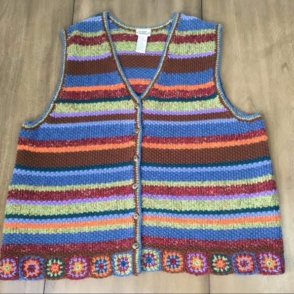Vintage Granny Square Sweater Vest